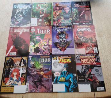 Lot of 65 Comics, Marvel, DC, Image, #1's. Comic Shop Exclusives FCBD Halloween Comic Fest Promos