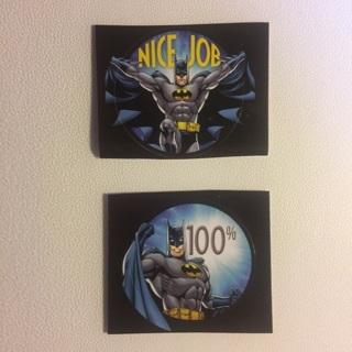 DC Comics Batman Round Stickers ~ 2 TOTAL ~ NEW!