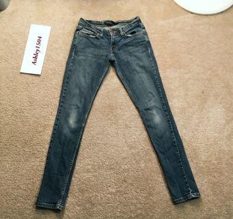 LEVIS BLUE JEAN PANTS TOO SUPER LOW 524 JEANS Levi's