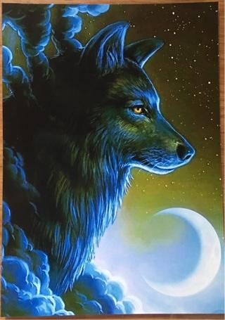"MOONLIT WOLF - 3 x 5"" MAGNET"