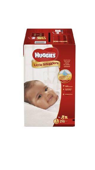 Huggies Little Swaddlers Newborn Diapers 216 ct