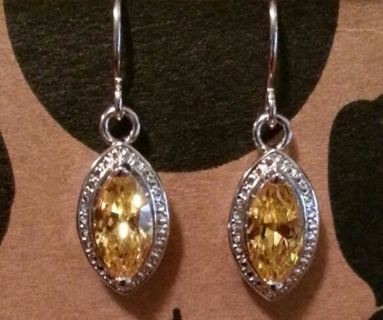 *Gorgeous* Yellow Marquise Fashion Earrings **GIN BONUS**
