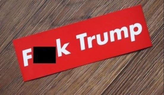 1 NEW F### President Donald Trump Sticker Bumper Sticker Anti-Trump Not My President FREE SHIPPING