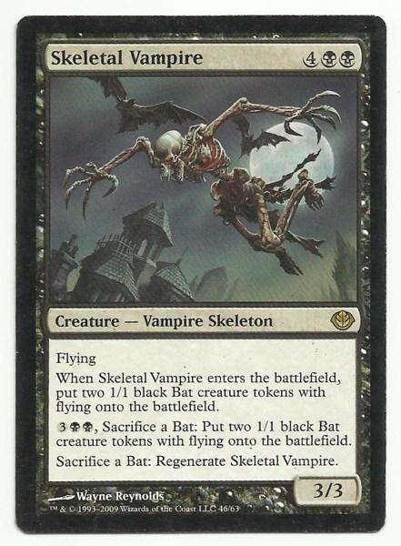free skeletal vampire x1 mtg mp duel decks garruk vs liliana black magic card tcg cards. Black Bedroom Furniture Sets. Home Design Ideas