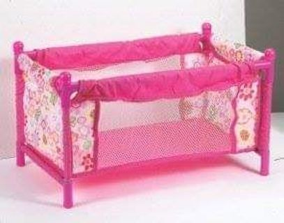 """⭐ BNIP 'LITTLE ROSE PLAYPEN FITS 18"""" DOLL & PILLOW + BLANKET CARRY BAG- MAY VARY FROM PICTURE ⭐"""