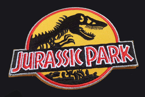 NEW Jurassic Park IRON ON PATCH Embroidered Patch Badge Application FREE SHIPPING