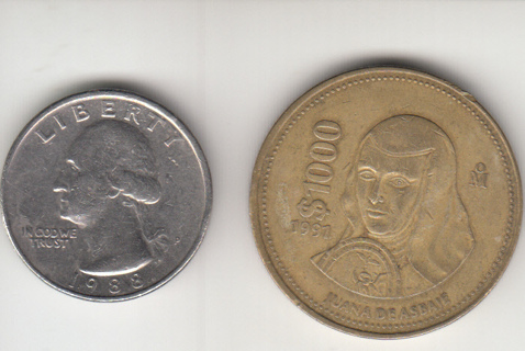 Mexico 1000 Pesos 1991 Coin