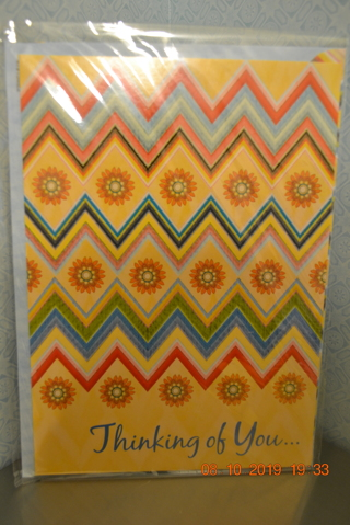 ****NIP COLORFUL THINKING OF YOU CARD W/MATCHING ENVELOPE***FREE SHIPPING