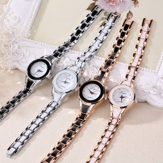 [GIN FOR FREE SHIPPING] Women Crystal Stainless Steel Quartz Analog Wrist Watch
