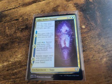 Magic the gathering mtg Niko Defies Destiny foil card