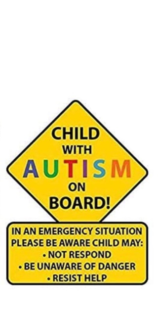 Child with Autism Awareness Car Decal Sticker (2pcs)