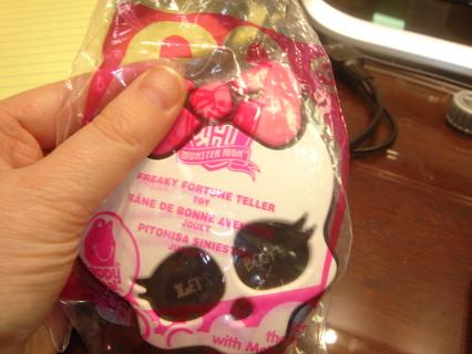 Free: BNIP Mcdonalds Monster High Freaky Fortune Teller Toy