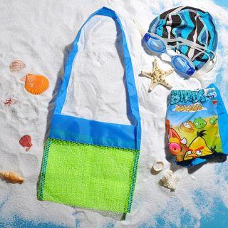 New Mesh Beach Bag Pack Pouch Box Tote Portable Carrying Beach Ball Toys Bags Summer Hot
