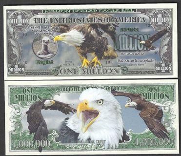 ☆Bald Eagle Million Dollar Collectible Bill- NEW