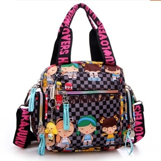 HARAJUKU LOVER'S BAG Colorful Waterproof Nylon Ladies Girls Womens Handbag Purse