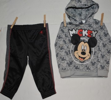 2 Pieces Boys Fall/ Winter Clothes Size 2T 24 Months Gently Used!! Body Glove Pants Mickey Hoodie