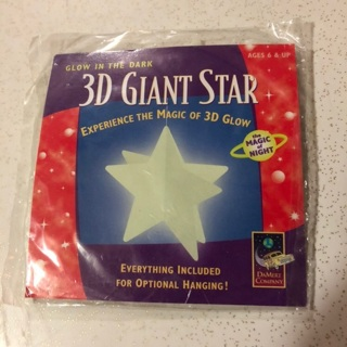 3D Giant Star Glow In The Dark
