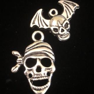 2 Skull / Halloween Charms