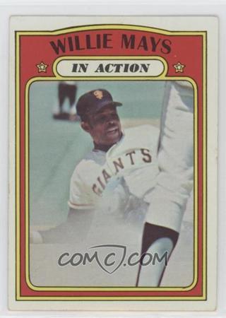 WILLIE MAYS ORIGINAL VINTAGE 1972 TOPPS CARD #50 NEW YORK/SAN FRANCISCO GIANTS LEGENDARY HOFER