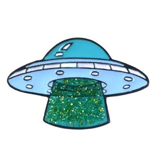 UFO ship ship sparkly pin ..!! New! cool look Aliens  free ship