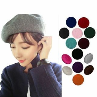 Beret Caps Beanie Casual Wool Sweet Beret Hat Cap Ski Caps For Women Girls