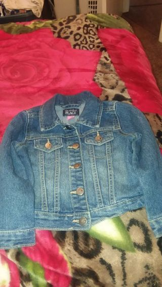 Girl jean jacket size 2T by children place