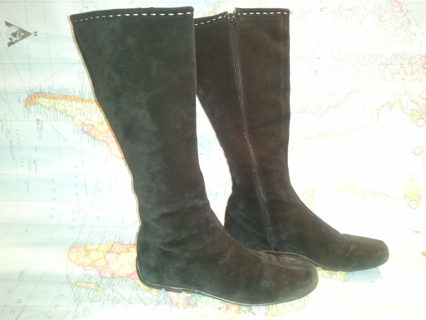 L.K. Bennett ~ VERY EXPENSIVE ~ Black Suede Boots ~ Fits: 7 - 7.5