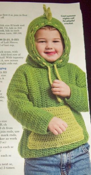 Free Crochet Pattern For Dinosaur Hoodie Crochet Listia