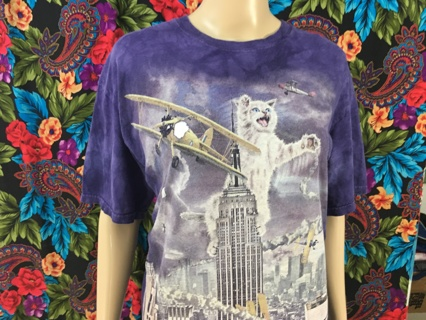 MEN'S THE MOUNTAIN Shirt King Kong Cat Size MEDIUM FREE SHIPPING