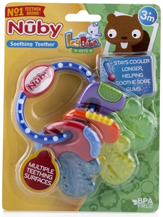 NEW Nuby Baby Teething Keys Toy Cold Gel Teething Item