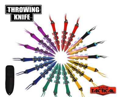 18 PCS Ninja Tactical Combat Assorted Kunai Throwing Knife Set w/Sheaths *NEW*