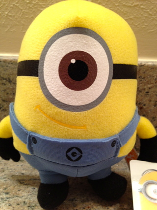 despicable me2 minion stuart 6 stuffed toy new mwt christmas stocking - Minion Christmas Stocking