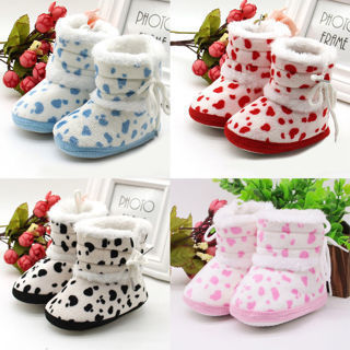 Baby Girls Boys Soft Booties Snow Boots Infant Toddler Newborn Crib Shoes Multi