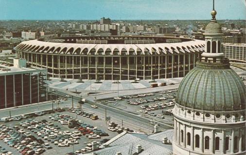 Vintage Used Postcard: Busch Memorial Stadium, St Louis, MO