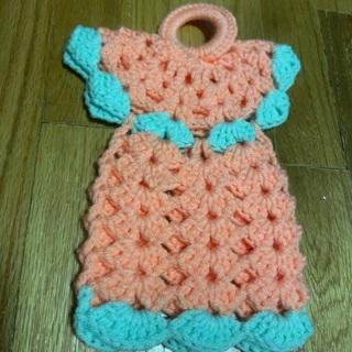 Hand Crocheted Large Angel Potholder.
