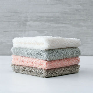 5Pcs Super Absorbent Microfiber Kitchen Dish Cloth Household Cleaning Towel Set