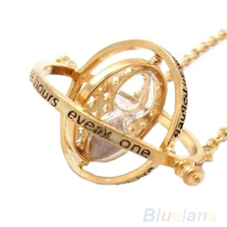 Harry Potter Hermione Granger Time Turner Rotating Spins Hourglass Necklace B12U