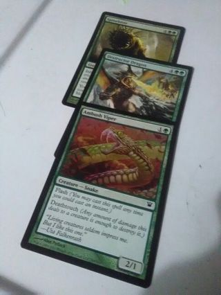 2 uncommon 1 common MTG cards