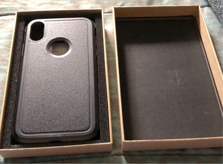 BNIB Black iPhone XR Protective Case with Complete Instructions. Great Gift!