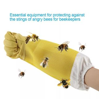 Beekeeping Gloves Goatskin Bee Keeping With Vented Apiculture Beekeeper Protective Long Sleeves
