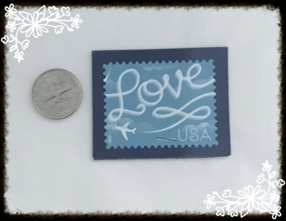 Magnet of a forever love stamp