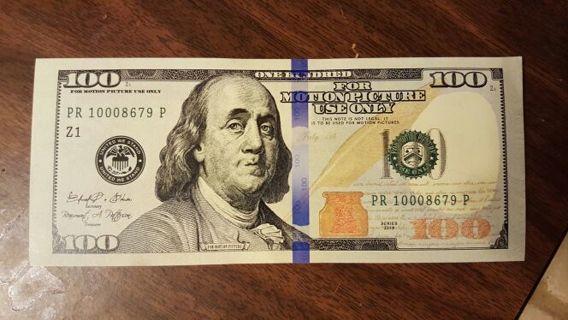 PROP MONEY / BILL