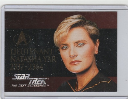 1994 Star Trek The Next Generation #SP4 Lieutenant Natasha Yar Embossed Foil Card