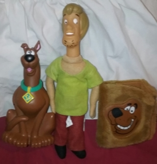 SCOOBY DOO  Shaggy plush and Wallet Cover Lot 3