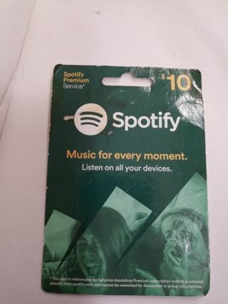 $10 Spotify Gift Card