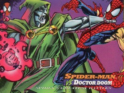 1994 Spider-Man: Collectible/Trade Card: Spider-Man vs Dr Doom