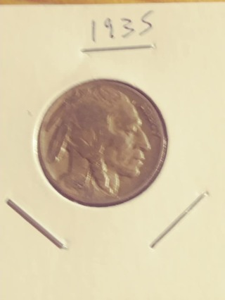 1935 Buffalo Nickel! Nice Full Date! 17