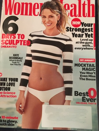 WOMEN'S HEALTH Magazine - Super Current!! MARCH 2020 - Brand New!! MINT!! Ships FREE!!