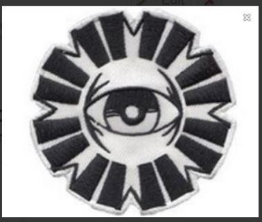 1 NEW Seeing Eye patch IRON ON Hot melt adhesive clothing patch applique embroidery