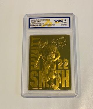 1995 23KT GOLD LIMITED EDITION 10 GEM MINT EMMITT SMITH - #6,128/20,000